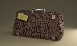 My favorite fonts suitcase