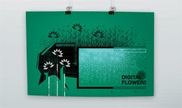Digital Flowers Poster