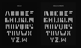 Neolux Typeface